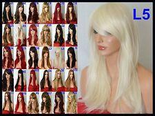 Pale Blonde Layered Natural Fashion Halloween Wavy Full Ladies Women Hair Wig L5