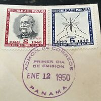 Carlos Finlay MD & Yellow Fever Panama First Day Cover Stamps RARE Issue Sale