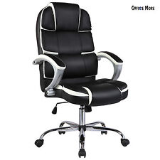 High Back Executive Swivel Office Chair PU Leather Computer Desk Task Ergonomic