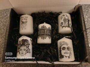 Beetlejuice votive candle set