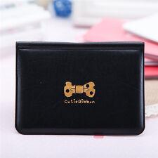 Black Women Bowknot Business ID Credit Card Pocket Bag Wallet Holder Case Smart