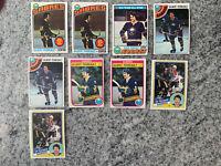 Gilbert Perreault 9 Card Lot Topps O-pee-chee Hockey #180 210 130 30 19 Sabres