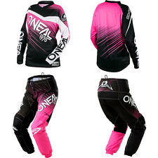 ONeal Element Pink motocross MX dirtbike gear - Jersey Pants Kids / Youth Combo