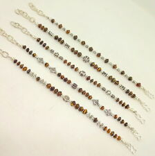 NATURAL YELLOW TIGER EYE GEMSTONE BEADED BRACELETS 52 GRAMS (5 PIECES ALL)