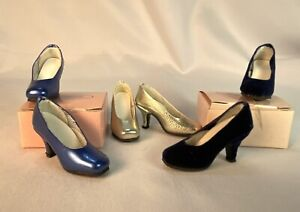 "Blue Silver Shoes Tonner Tyler Gene Alex 16"" Doll Kingstate Old Store Stock 3 PR"
