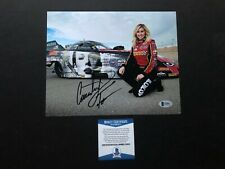 Courtney Force signed autographed NHRA drag racing 8x10 photo Beckett BAS coa