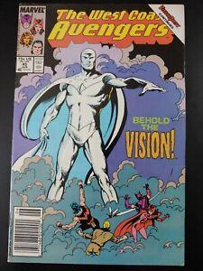 ⭐️ WEST COAT AVENGERS #45 1st Appearance White Vision (1989 MARVEL Comics) FN