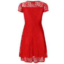 UK NEW Women Ladies Lace Long Sleeve Cocktail Party Cocktail Mini Skater Dress