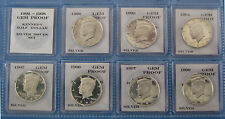 1992-S thru 1998-S Proof Silver Kennedy 7pc Set