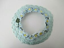 Pale Blue/Daisies Straw Circlet Hat Suitable for Wedding Flower Girl 4-6x NOS