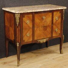 Comò stile antico transizione mobile cassettone cassettiera in legno piano marmo