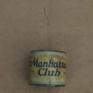 Vintage Brunswick-Balke-Collender Manhattan Club Round Pool Billiards Chalk
