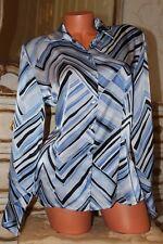 B/A/S/L/E/R soft sleek blue faux satin ladies shirt  top blouse size 14