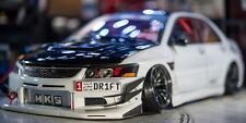 1/10 RC Car Body Shell MITSUBISHI EVOLUTION EVO DRIFT W/ Light Bucket -UNPAINTED