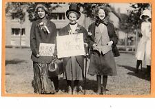 Real Photo Postcard RPPC - Three Women in Costume Crossdressing