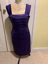PHASE EIGHT PURPLE DRESS SIZE 12