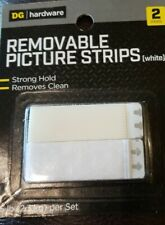 Picture Hanging Strips Removable Holds Up to 5 lb White, 2 pair pack