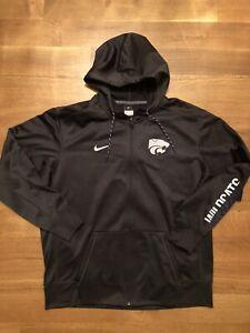 Nike Kansas State Wildcats Therma Fit Full Zip Hoodie XXL EUC