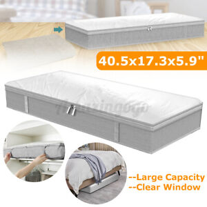 Large Oxford-Cloth Under The Bed Bag With Ha 2 Pcs Under-Bed Storage Containers