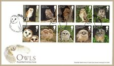 2018 OWLS STAMP SET FDC FIRST DAY COVER - Owls Close, Cambridge Handstamp