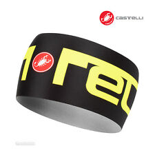 NEW Castelli VIVA2 THERMO Headband Thermal Cycling Head Band : BLACK/YELLOW FLUO