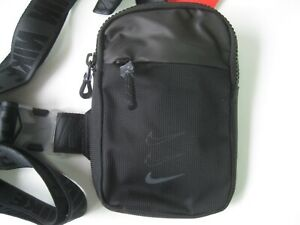 Nike Essentials Hip Pack Small Shoulder Bag Black Swoosh Summer Festival Travel