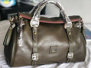 Dooney & Bourke Florentine Leather Medium Satchel Bag FERN NEW