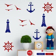 Nautical Themed Wall Sticker Set Boys & Girls Bedroom Vinyl Decals Stickers x24