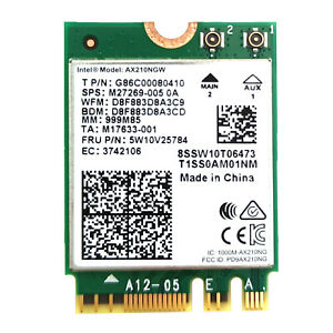 AX210 WiFi 6E 802.11ax Network Card 3000Mbps Wireless Bluetooth 5.2 for Windows
