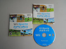 Wii Sports Game & Instructions in Sleeve Complete! Nintendo Wii