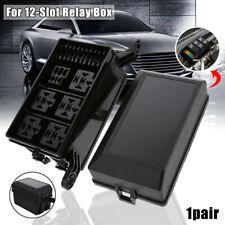 Automotive Car Fuse Relay Holder 12-Slot Relay Box 6 Relays 6 ATC/ATO FuseUF