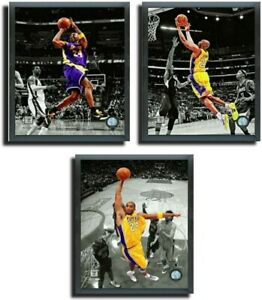 Kobe Bryant Los Angeles Lakers NBA Spotlight Photos Framed Collection (3-Pack)