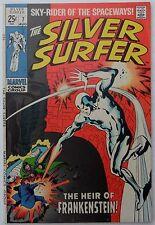 Silver Surfer #7 (Aug 1969, Marvel), VFN-NM, Frankenstein's monster cameo