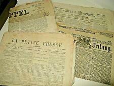 """LOT 20 JOURNAUX FRANCAIS - ALLEMAND GUERRE 1870-71 """"RAPPEL"""" LOIRE SIEGE PARIS"""