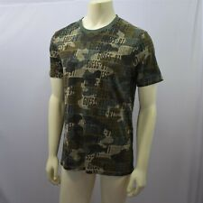 GUESS MENS CAMOUFLAGE CREW NECK SHIRTS L  NEW WITH TAG