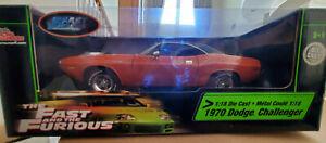 Racing Champions 1:18  1970 Dodge Challenger Orange w/ black vinyl top
