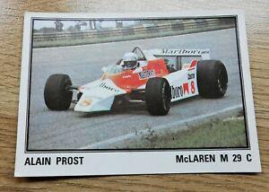 ALAIN PROST Rookie Sticker - Panini F1 Grand Prix 1980 - #62 - Excellent