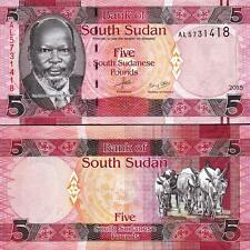 SOUTH SUDAN 5 POUNDS 2015 UNC ½ BUNDLE UNC PACK OF 50 PCS P.6b
