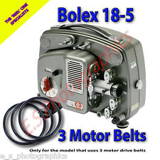 BOLEX 18-5 Cine Projector Drive Belts (3 x Motor Belts For 3 Belt Model Only)