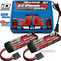 Traxxas EZ-Peak Plus Dual Charger w/ 2x ID 3S 11.1V 5000mAh Lipo
