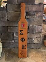 Kentucky Wesleyan Gamma Fraternity Chapter Paddle To: Bucky '70 From Sween '69