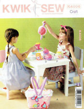 Tea Set and Basket Childs Fabric Toy Kwik Sew 4006 Sewing Pattern