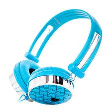 Love Pattern Over the head Childrens Kids Headphones LeapPad Innotab Nabi Blue