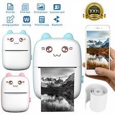 Tragbar Mini Thermodrucker für Smartphone Handy Rechnung Label Fotodrucker N5V7