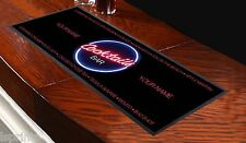 PERSONALISED COCKTAIL NAMES PINK Bar Towel Runner Pub Party Mat Beer