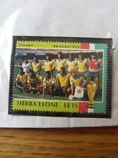 1990 World Cup Stamp: Sierra Leone - Columbia Team