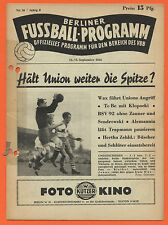 Orig. PRG 12.09.1953 Berlin contract League-All games, brackets, etc.