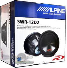 "Alpine SWR-12D2 12"" 3000 Watt Dual 2-Ohm Car Subwoofer New SWR12D2 Car Subs"