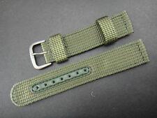 Seiko 18mm Military Nylon Mens Watch Strap - Green - New