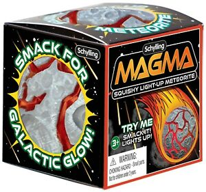 Squishy Light-Up Meteorite Magma 2.5-Inch Small Stress Ball [Grey]